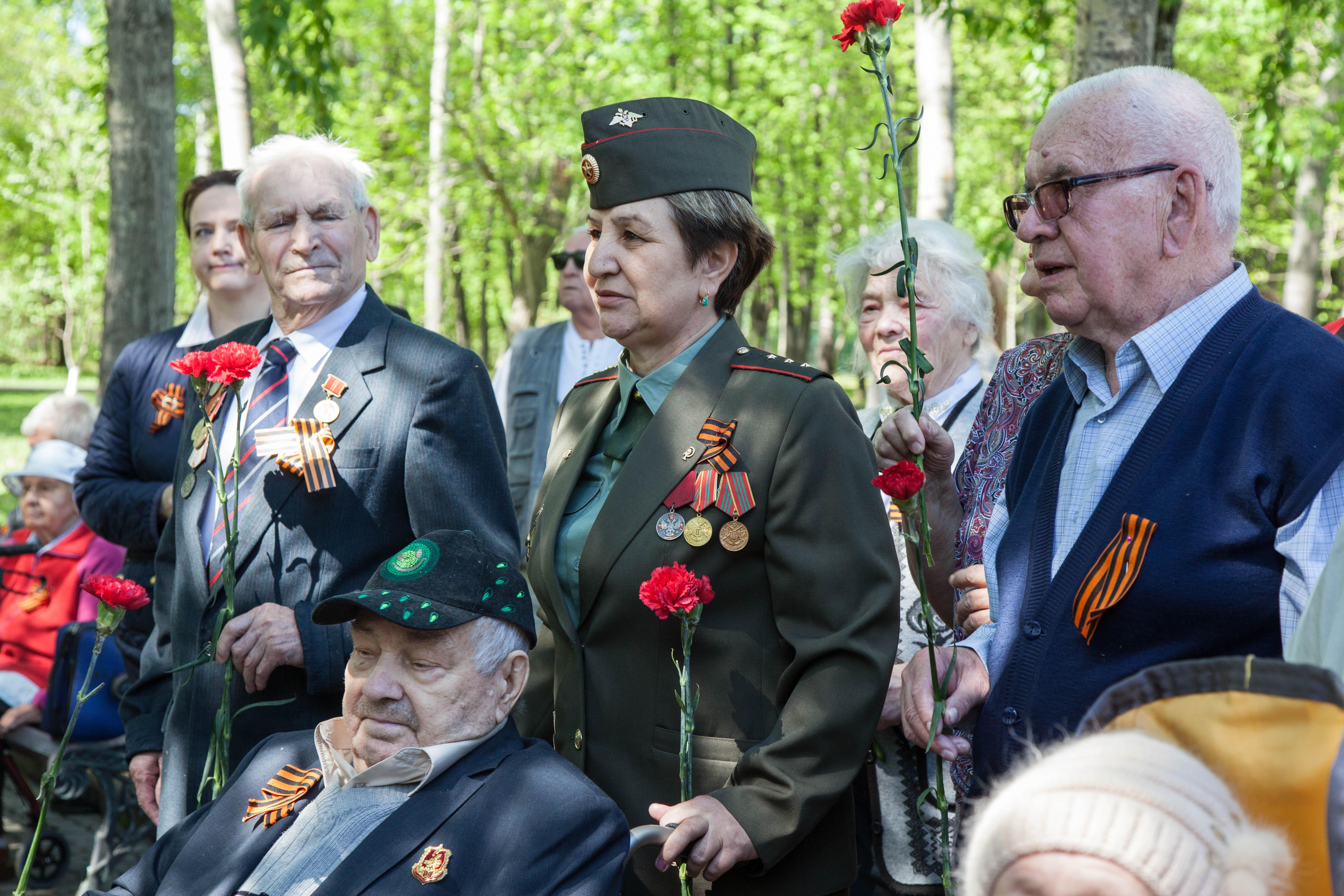 Митинг, посвященный празднованию 73-й годовщине Дня Победы в Пансионате №1